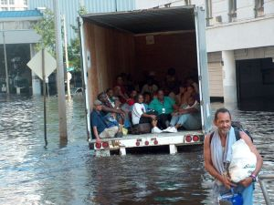 Katrina evacuations near Charity Hospital, New Orleans.  Photo Credit:  Frogmation.  Creative Commons License.