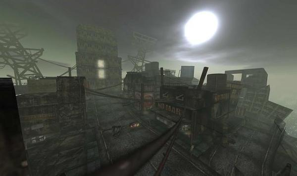 Dystopian City Falling into Ruins.  Photo Credit:  Torley Linden, Creative Commons License.