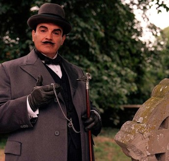 David Suchet as Hercule Poirot in the long-running ITV series.  Credit:  Mail Online.  http://www.dailymail.co.uk/news/article-2488212/Whodunit-Agatha-Christies-The-Murder-Of-Roger-Ackroyd-voted-best-crime-novel-written.html